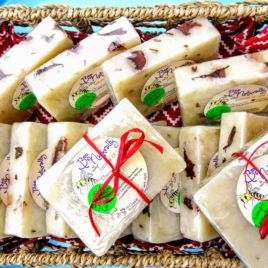 Lemon Lavender Organic Shea Butter Soap infused with Beeswax; Lavender Buds & Calendula Petals