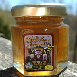 2 oz Certified Raw Sourwood Honey Hex Jar