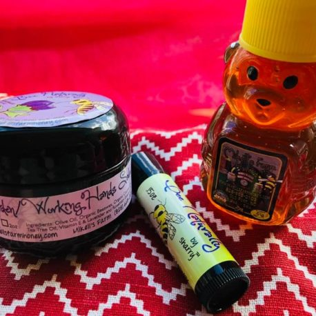 USE PIC OF SWEET SAVINGS BAG, HONEY BEAR, GARDEN SALVE, LIP.MFH BNBS