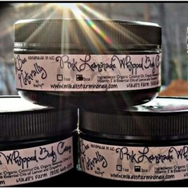 Pink Lemonade Whipped Body Creme With Organic Ingredients