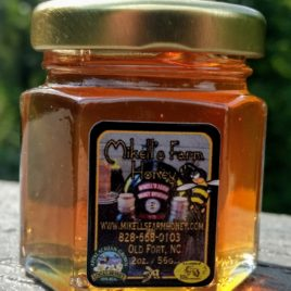 Spring/Wildflower Raw Honey 2 oz Hex Glass Jar