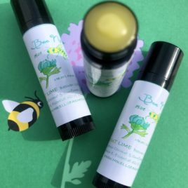 Coconut Lime Beeswax Lip Balm (New Flavor) With Organic Ingredients