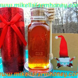 The perfect gift wrap Cylinder for Muth jar honey with packing confetti, bow and optional card. ** (Honey and products not included.)**